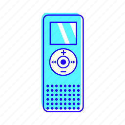 dictaphone, electronic, recorder, technology icon