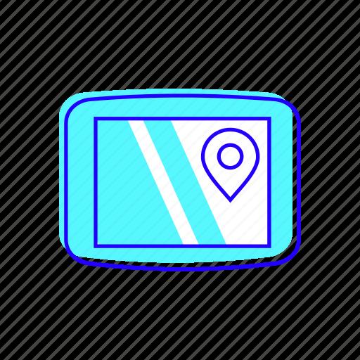 electronic, gps, location, navigation icon