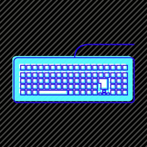 electronic, hey, keyboard, typing icon
