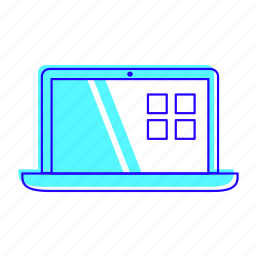 computer, electronic, laptop, pc icon