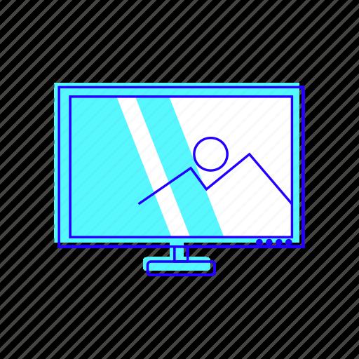 display, monitor, television, tv icon