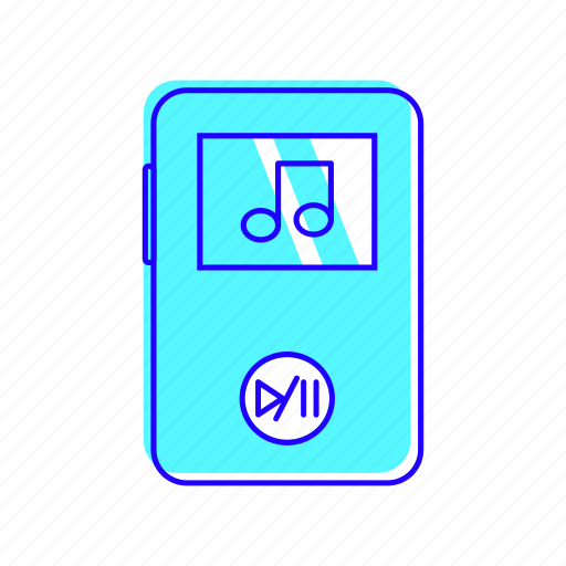 electronic, mp3, mp4, music icon