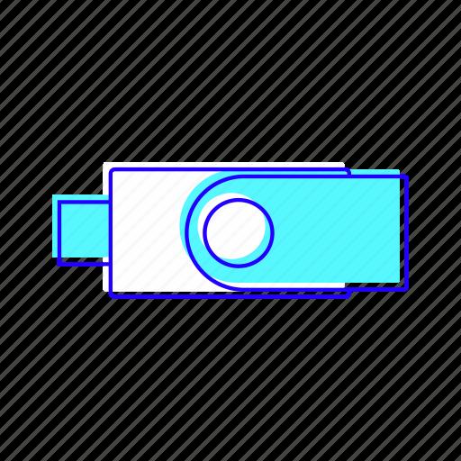 electronic, flash, memory, pendrive icon