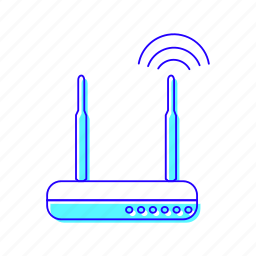 network, router, switch, wifi icon