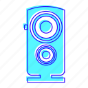 bass, electronic, music, speaker icon