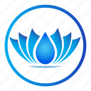 ecology, environment, flower, lotus, nature icon