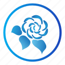 ecology, flower, leaf, nature, rose icon