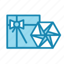 bow, christmas, gift, new year, present, star icon