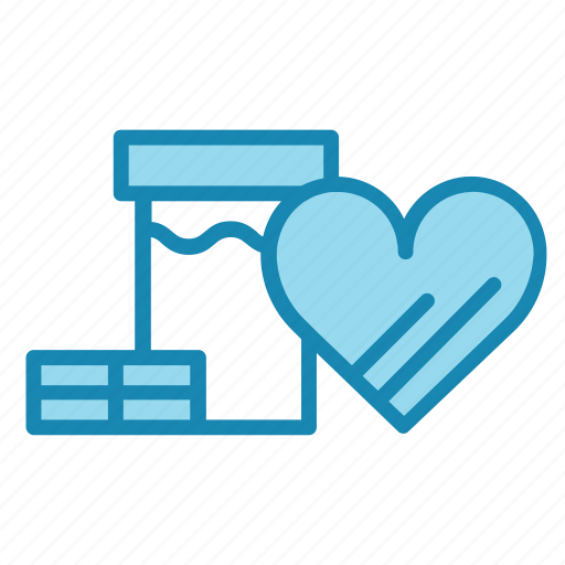 box, christmas, gift, heart, new year, present icon