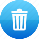 bin, delete, recycle, recycling, remove, trash, trashcan icon