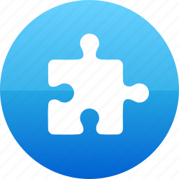 addon, challenge, jigsaw, logo, plugin, puzzle icon