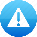 alert, careful, caution, danger, hazard, sign, warn icon