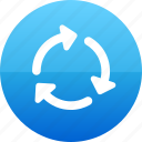 arrow, arrows, loading, progress icon