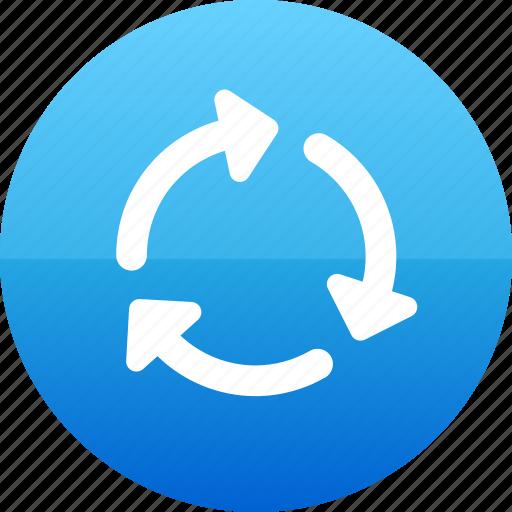 arrow, arrows, loading, progress icon