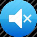 mute, off, speaker icon