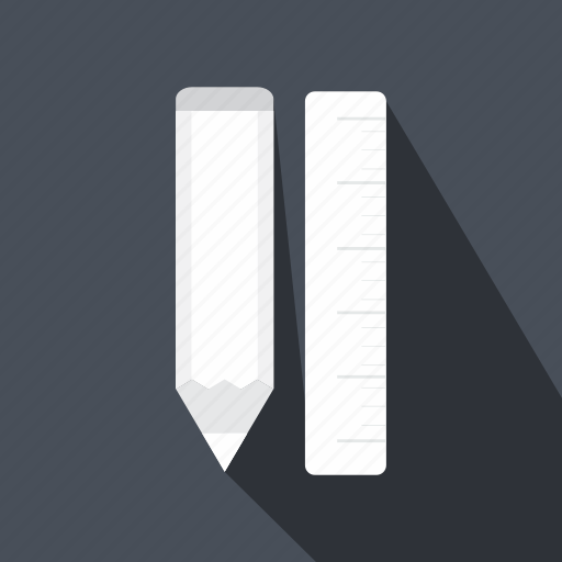 material, pen, pencil, ruler, school, tool, writing icon