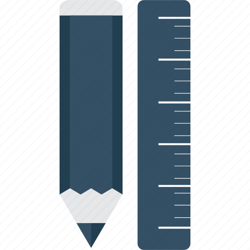 material, pen, pencil, ruler, school, tool, writing icon