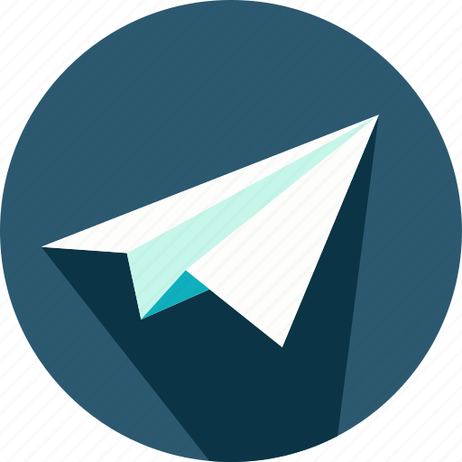 airplane, childhood, message, origami, paper, plane icon