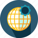 earth, geography, grid, planet, settings, web icon