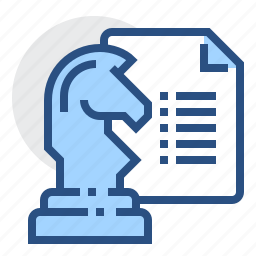 business, chess, document, horse, report, strategy icon