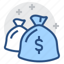 bag, bank, business, capital, finance, financial, money icon