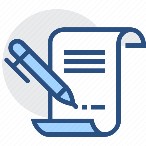 contract, page, paper, pen, pencil, sign, text icon