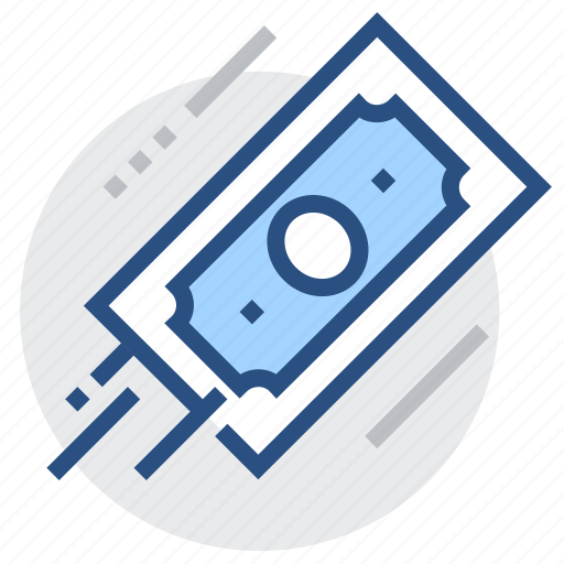 banknote, dollar, financial, fly, investment, money, payment icon