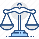balance, judge, justice, law, legal, scales, weight icon