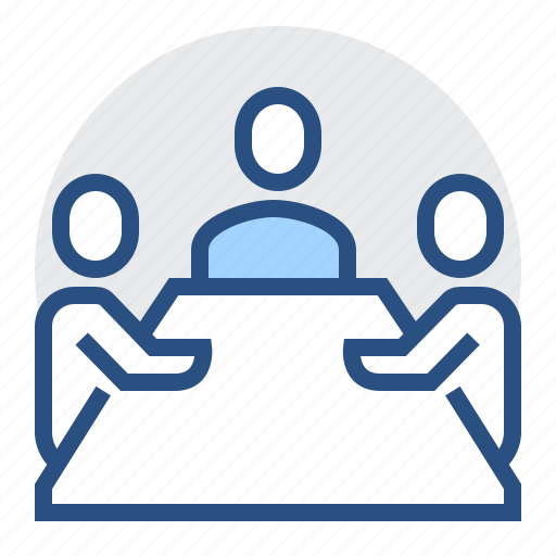 business, communicate, group, meeting, office, people, team icon