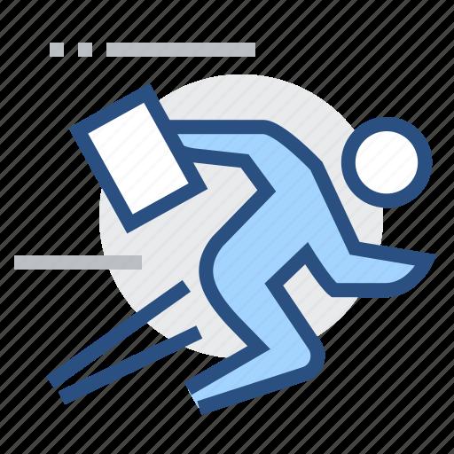 business, male, man, person, race, run, rush icon