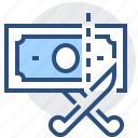 banking, business, cut, dollar, finance, money, taxes icon