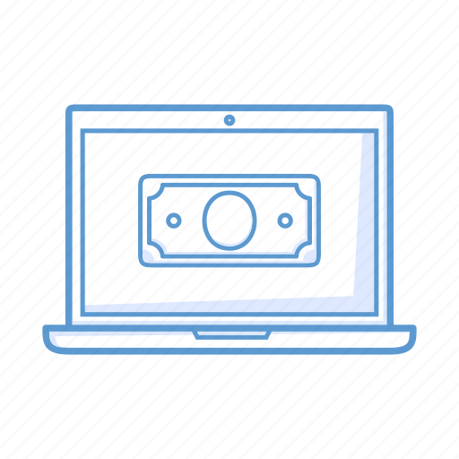 coin, dollar, laptop, money, notebook, pay, payment icon