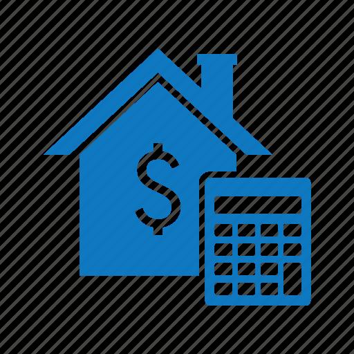calculator, house, price, read estate, tax icon