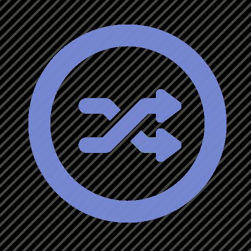 arrow, music, random, shuffle icon