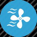 blue, cooler, home, round, ventilation icon