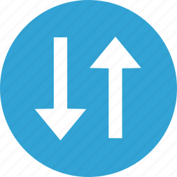 arrow, bottom, change, list, up, way icon