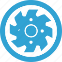 blade, blue, circular, mashine, round icon