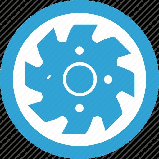 blade, blue, circular, mashine, round icon