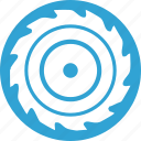 blade, blue, cut, mashine, off, round, wood icon