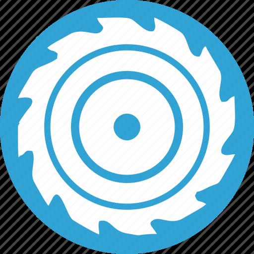 blade, blue, cut, mashine, off, round, wood icon