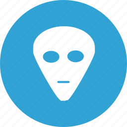 blue, game, mask, party, round, secret icon
