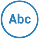 abc, format, mobile, mode, text, tool, write icon