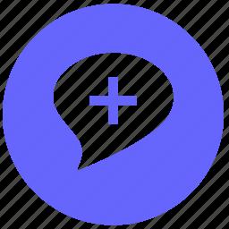 add, comment, dialog, message, plus icon