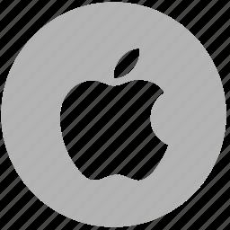 apple, company, fruit, round icon