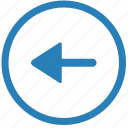 arrow, back, left, navigation, slide icon