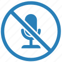 cancel, instrument, mic, microphone, record icon