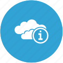 cloud, info icon