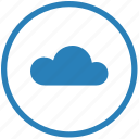 cloud, folder, mobile, mode, round, storage, transfer icon