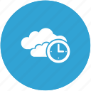 cloud, time icon