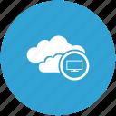 cloud, tv icon
